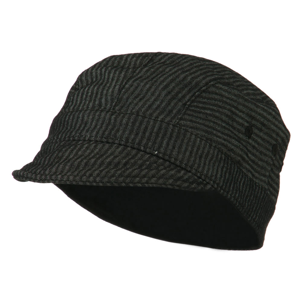 Free Style Garment Washed Cabbie Cap - Black Grey - Hats and Caps Online Shop - Hip Head Gear