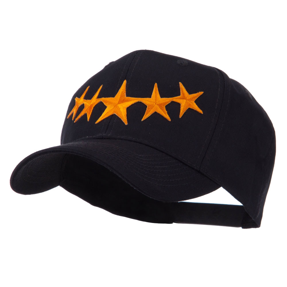 Flag Style Embroidered Patch Cap - Gold - Hats and Caps Online Shop - Hip Head Gear