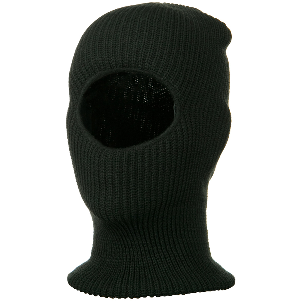 Face Mask with One Hole - Charcoal