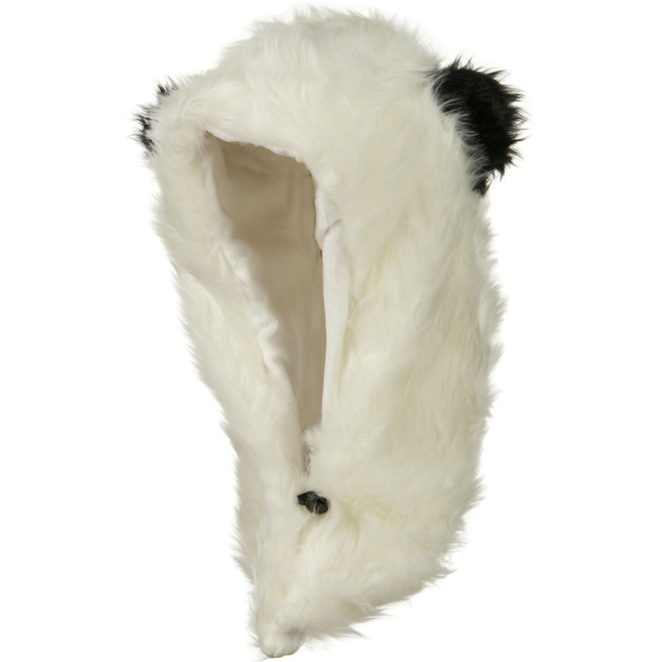 Furry Animal Hood Hat - Panda - Hats and Caps Online Shop - Hip Head Gear