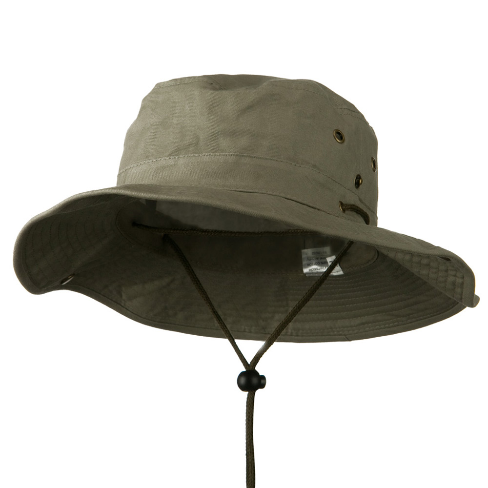 Extra Big Size Brushed Twill Aussie Hats - Olive - Hats and Caps Online Shop - Hip Head Gear