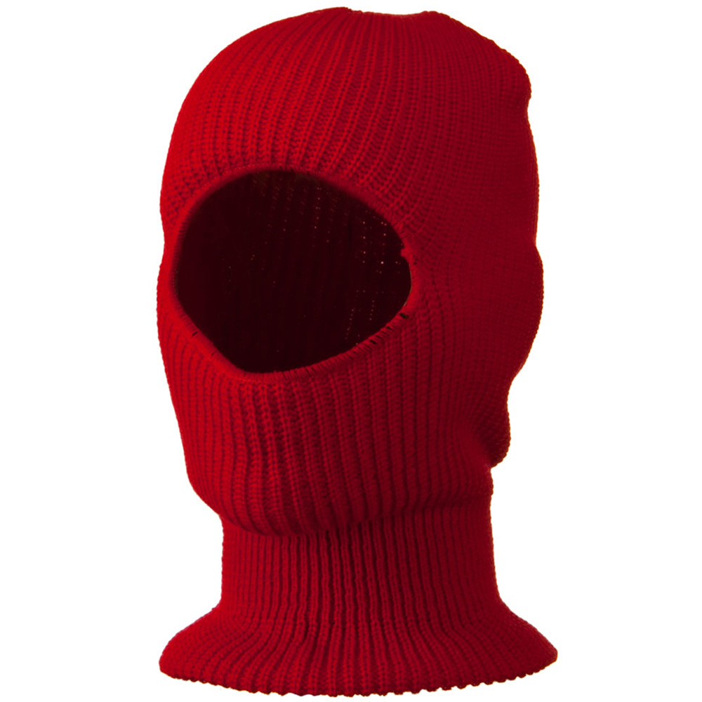 Face Mask with One Hole - Red - Hats and Caps Online Shop - Hip Head Gear