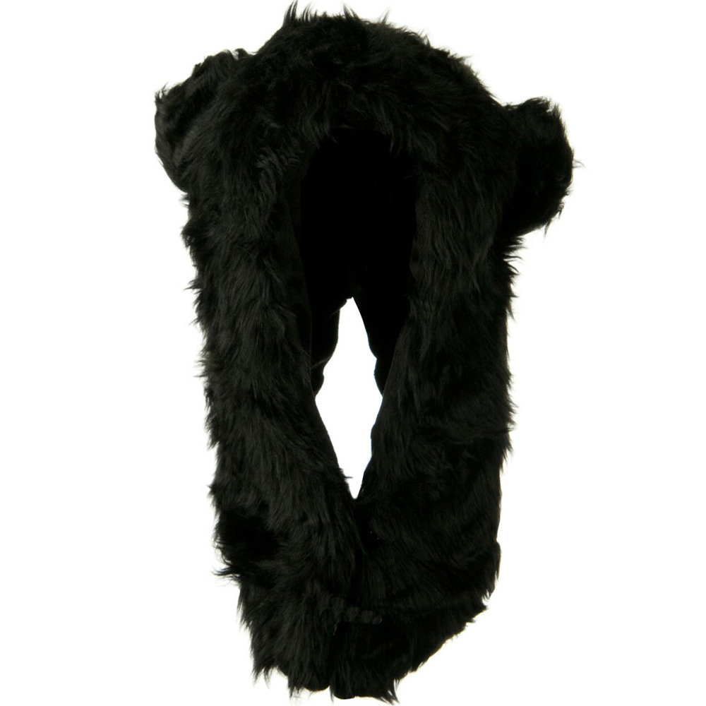 Furry Animal Hood Hat - Black Bear - Hats and Caps Online Shop - Hip Head Gear