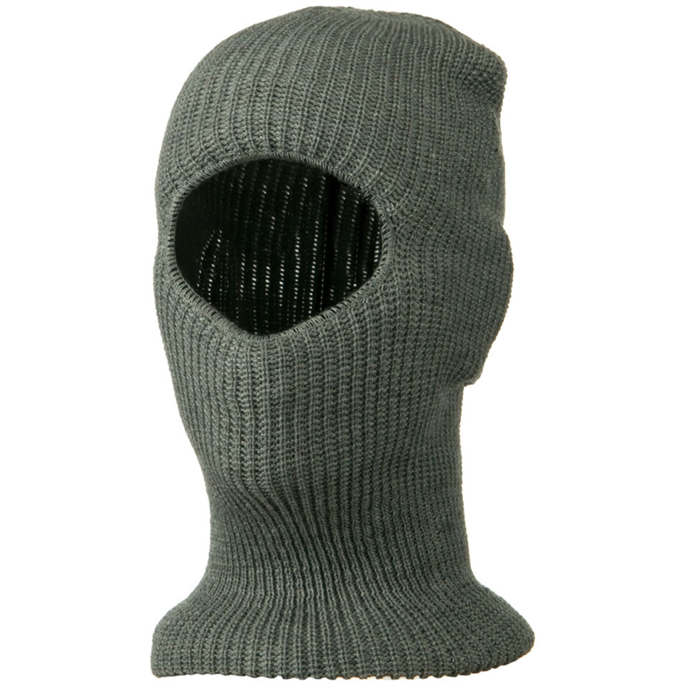 Face Mask with One Hole - Light Grey - Hats and Caps Online Shop - Hip Head Gear