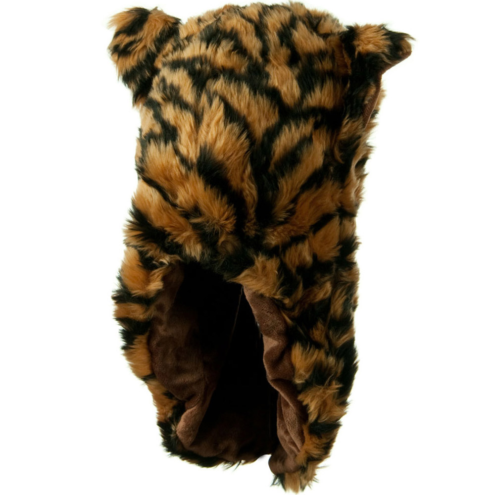Furry Animal Hood Hat - Tiger - Hats and Caps Online Shop - Hip Head Gear