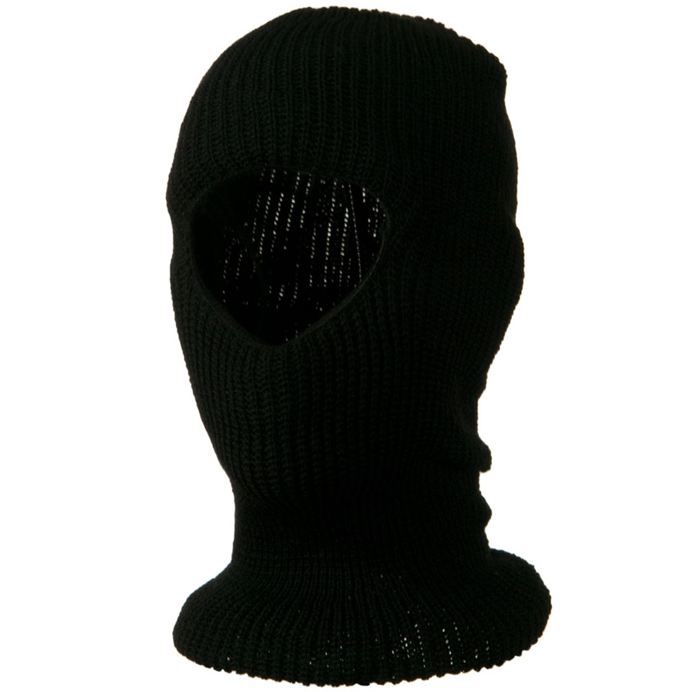 Face Mask with One Hole - Black - Hats and Caps Online Shop - Hip Head Gear