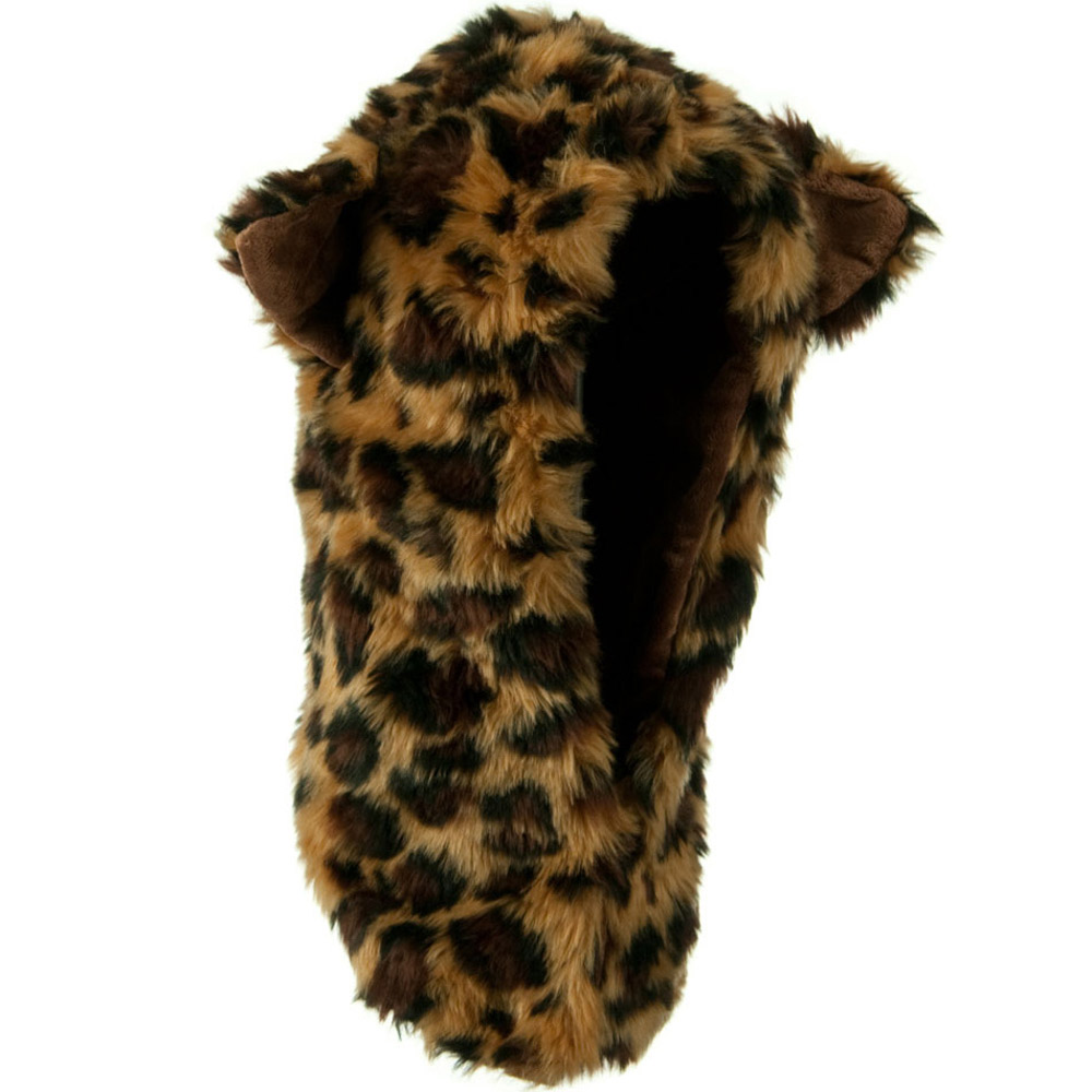Furry Animal Hood Hat - Leopard - Hats and Caps Online Shop - Hip Head Gear