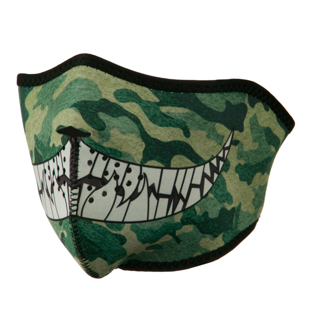 Neoprene Half Face Mask - Camo with Tech - Hats and Caps Online Shop - Hip Head Gear