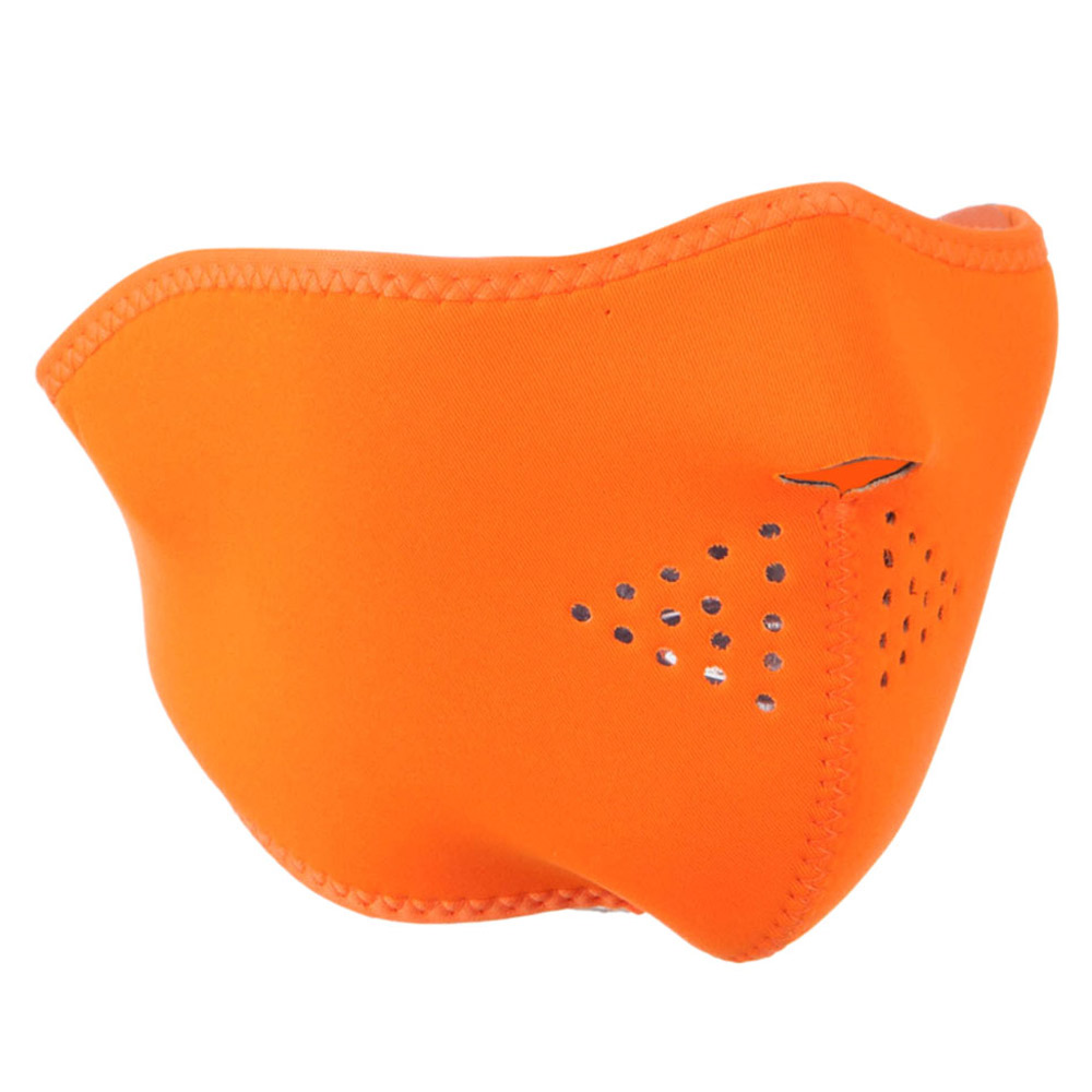 Neoprene Half Face Mask - High Visibility Orange - Hats and Caps Online Shop - Hip Head Gear