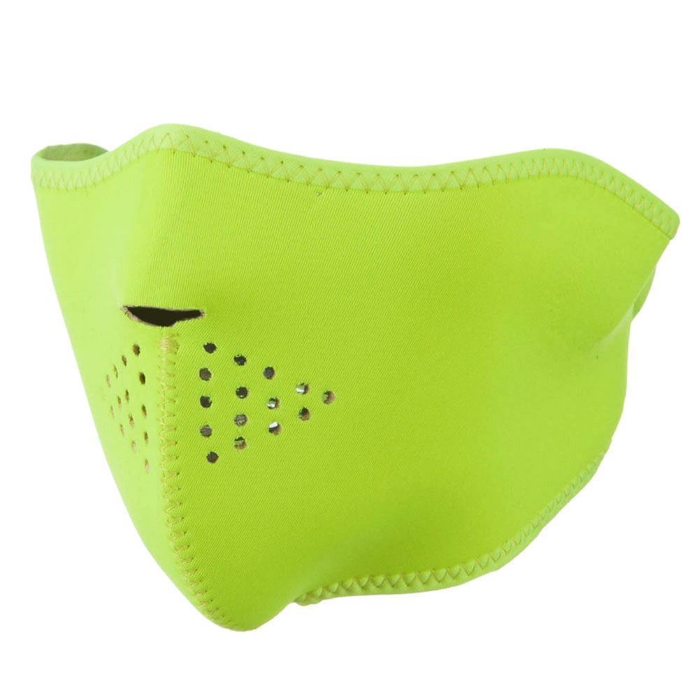 Neoprene Half Face Mask - High Visibility Neon Yellow - Hats and Caps Online Shop - Hip Head Gear