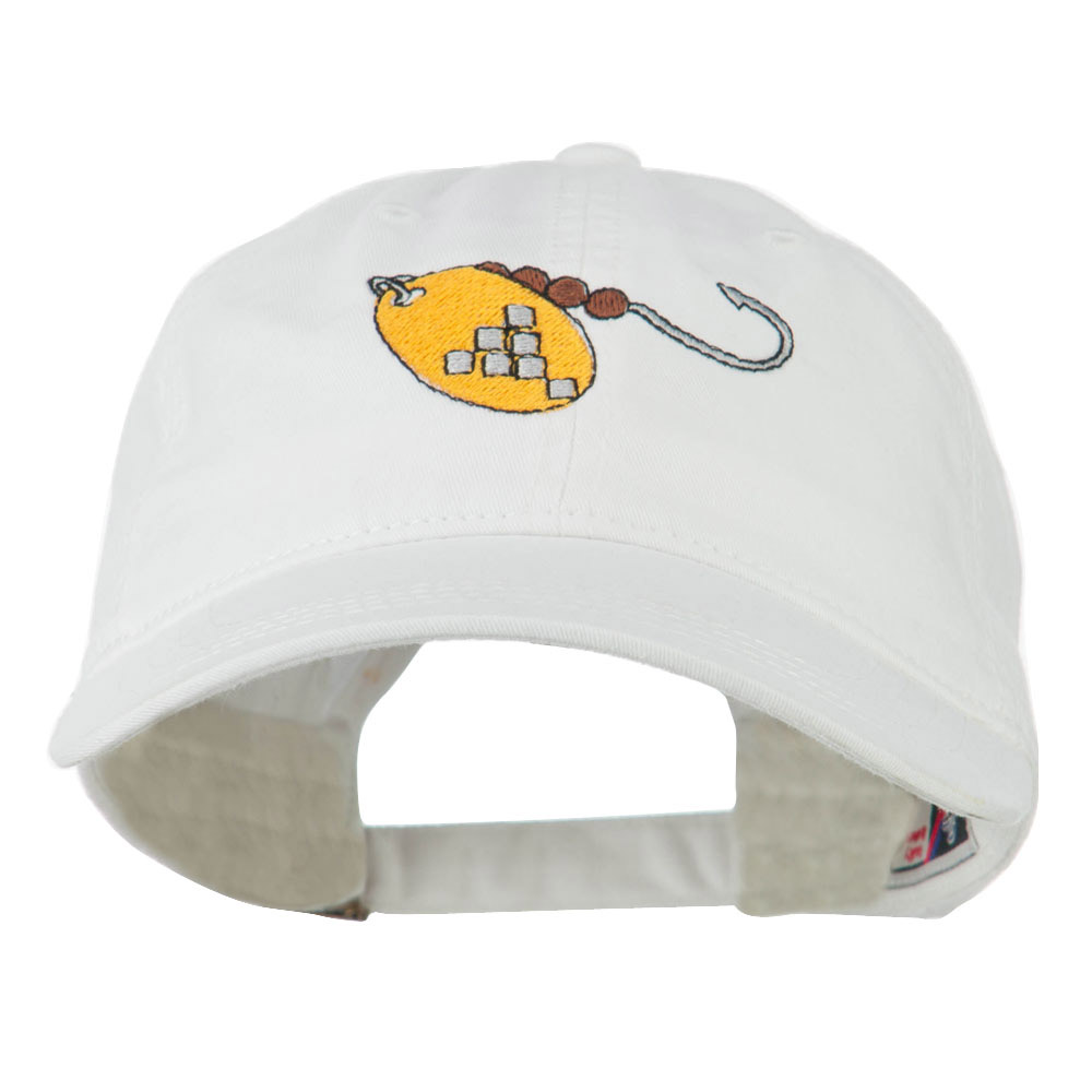 Fishing Spinner Embroidered Washed Cap - White - Hats and Caps Online Shop - Hip Head Gear