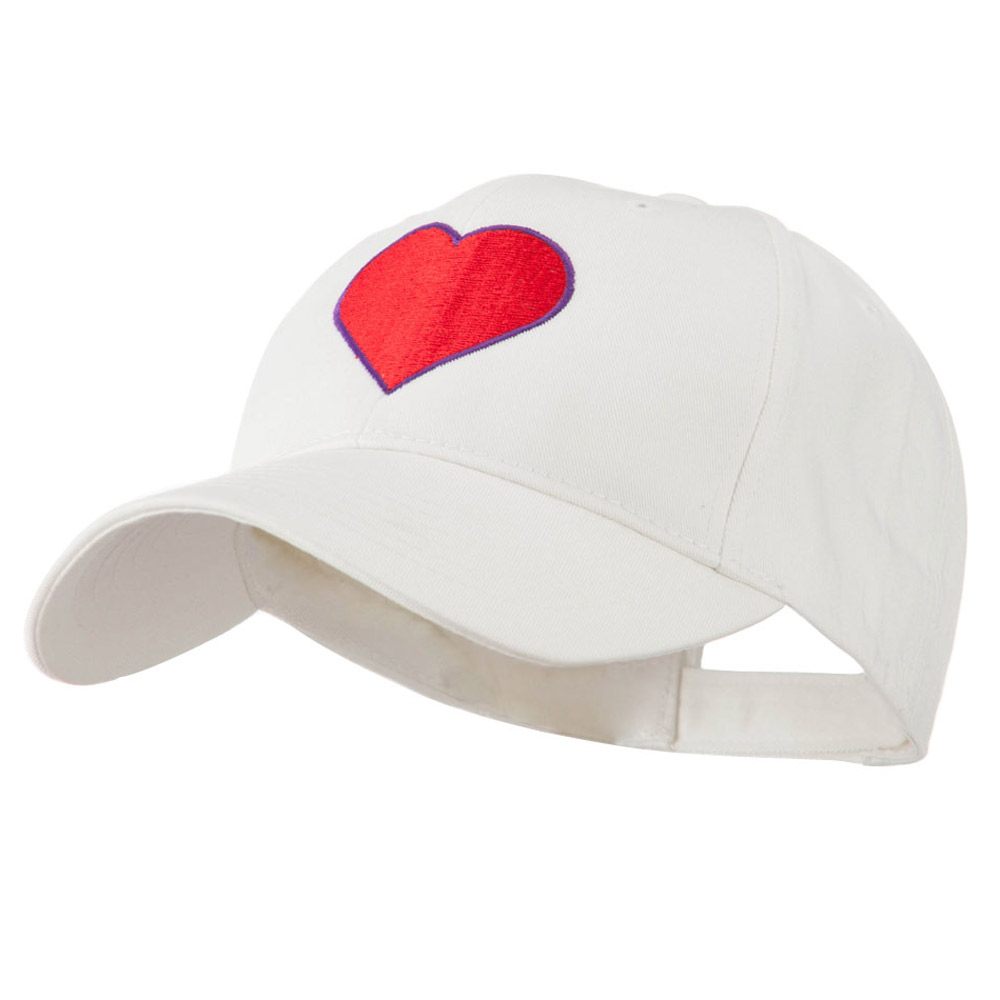 Filled Heart Symbol Embroidery Cap - White - Hats and Caps Online Shop - Hip Head Gear