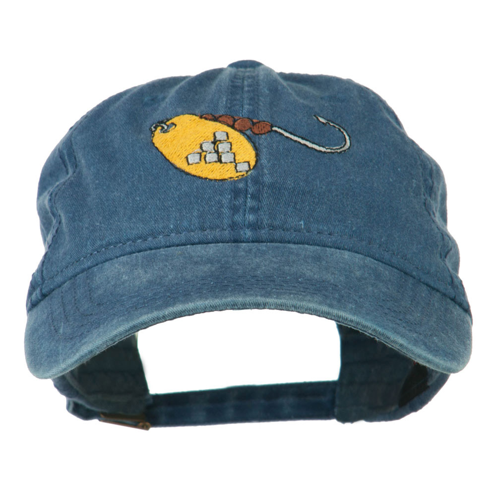Fishing Spinner Embroidered Washed Cap - Navy - Hats and Caps Online Shop - Hip Head Gear
