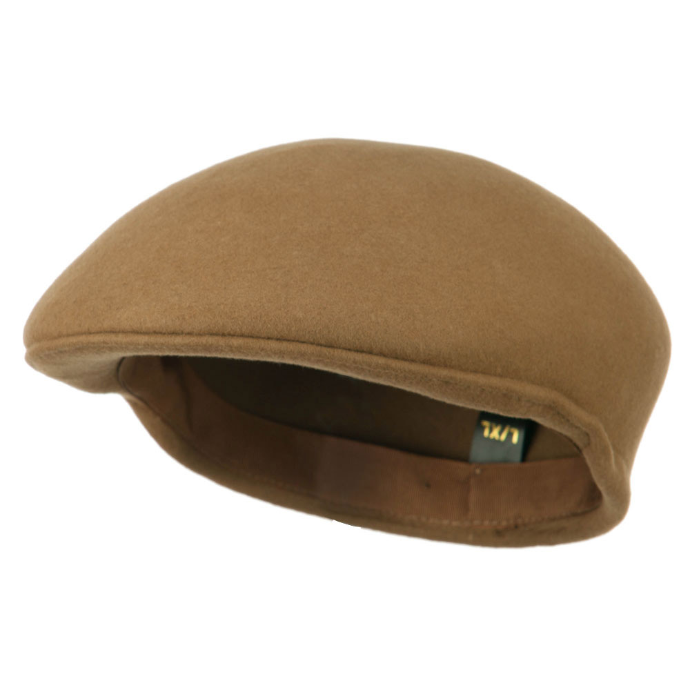 Ascot Wool Felt Ivy Cap - Tan - Hats and Caps Online Shop - Hip Head Gear