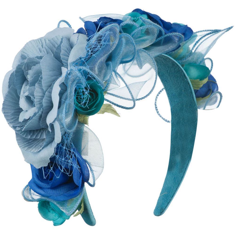 Flower Fascinator - Turquoise - Hats and Caps Online Shop - Hip Head Gear