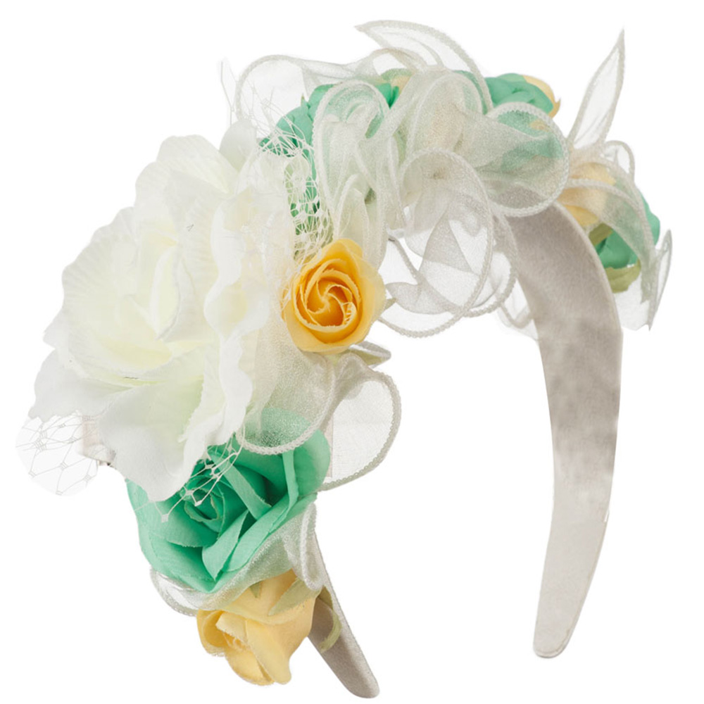 Flower Fascinator - Ivory - Hats and Caps Online Shop - Hip Head Gear
