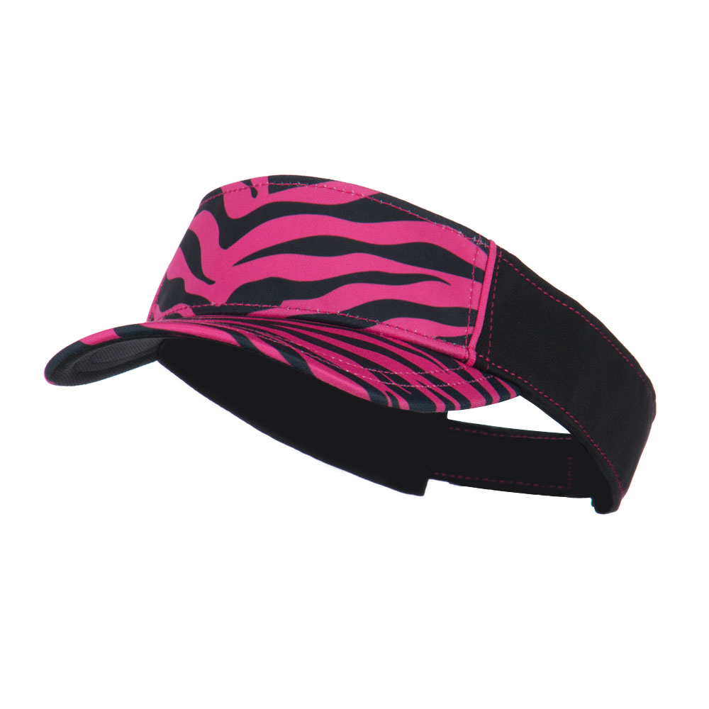 Ladies Fit Sublimated Print Visor - Pink Zebra - Hats and Caps Online Shop - Hip Head Gear
