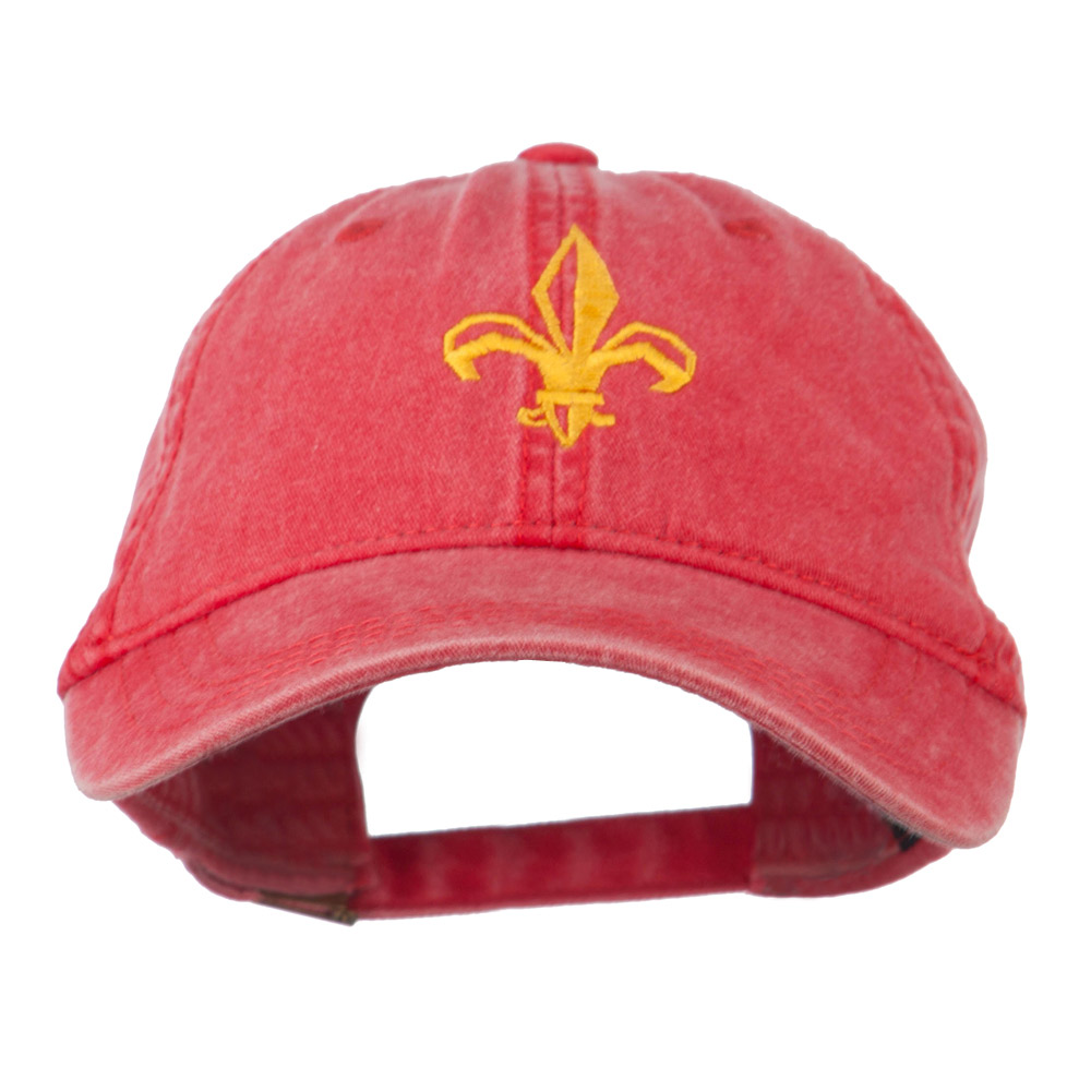 Fleur de lis Embroidered Cap - Red - Hats and Caps Online Shop - Hip Head Gear