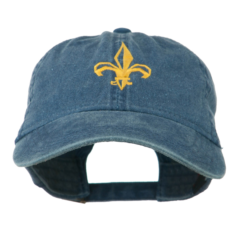 Fleur de lis Embroidered Cap - Navy - Hats and Caps Online Shop - Hip Head Gear