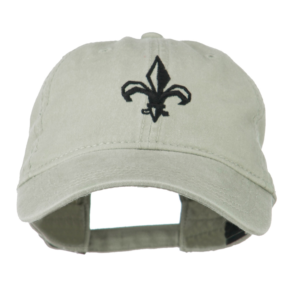 Fleur de lis Embroidered Cap - Khaki - Hats and Caps Online Shop - Hip Head Gear
