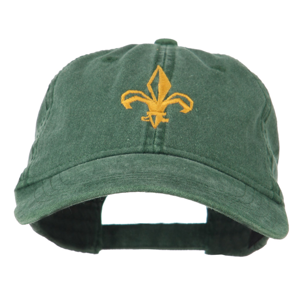 Fleur de lis Embroidered Cap - Dark Green - Hats and Caps Online Shop - Hip Head Gear