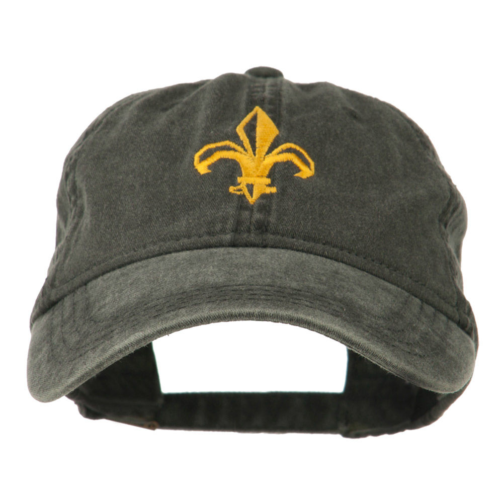 Fleur de lis Embroidered Cap - Black - Hats and Caps Online Shop - Hip Head Gear
