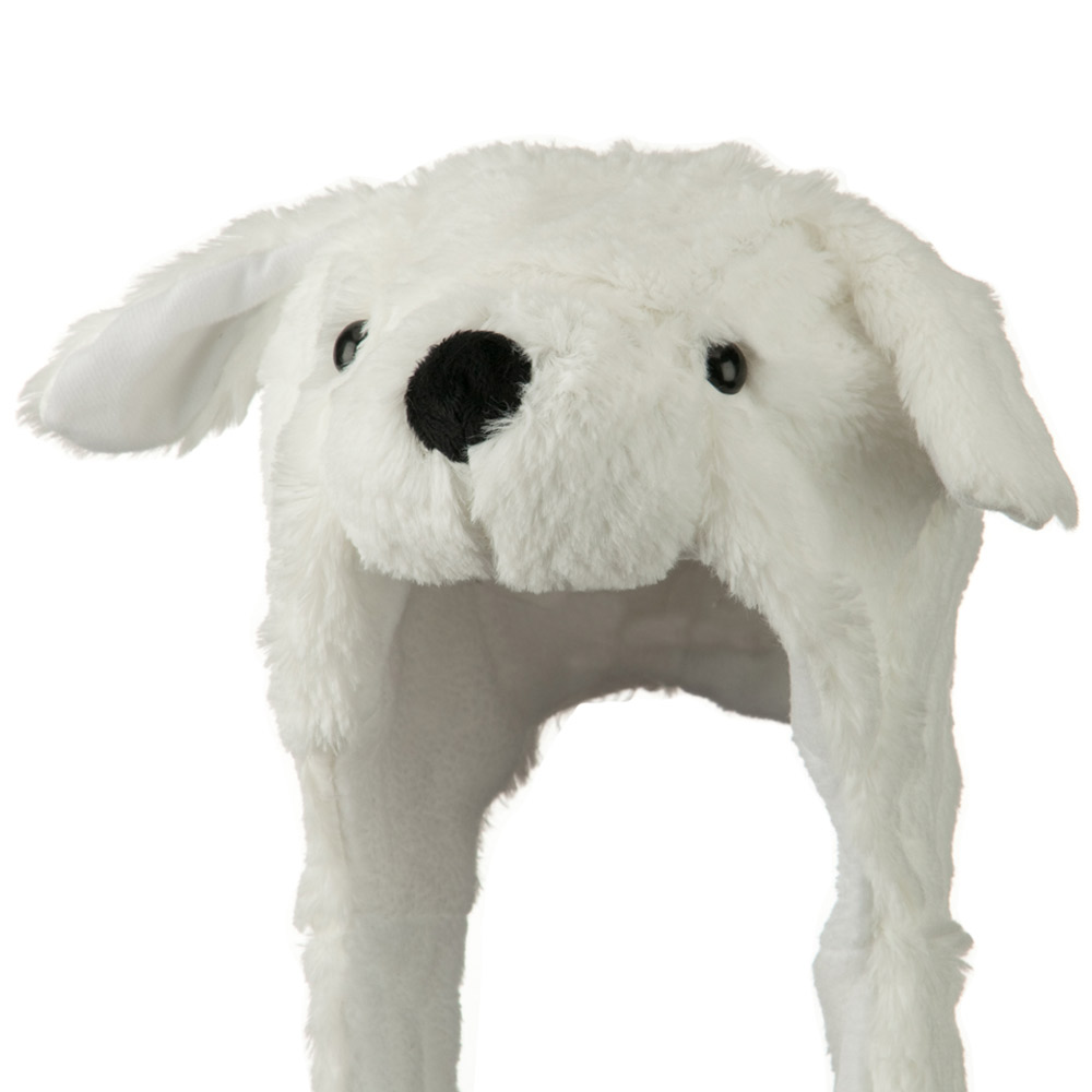 Youth Fleece ML Animal Hat - White Bear - Hats and Caps Online Shop - Hip Head Gear