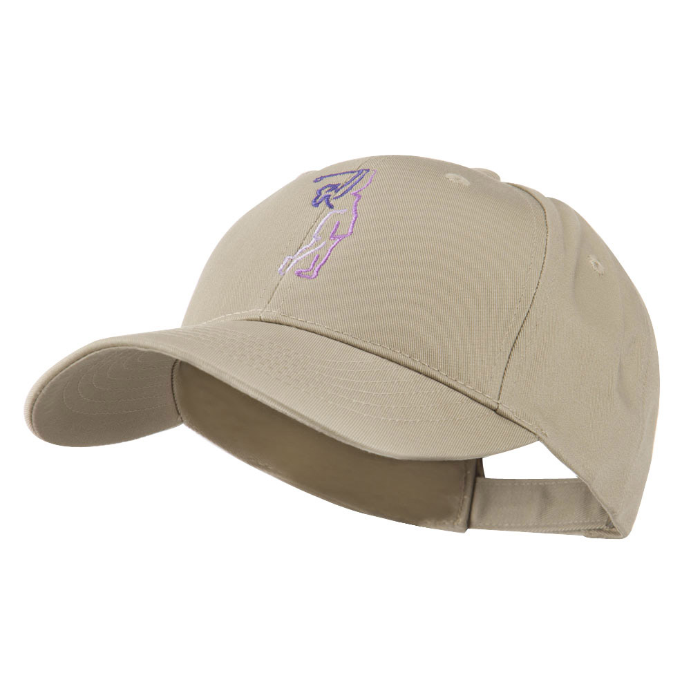 Female Golfer Outline Embroidered Cap - Khaki - Hats and Caps Online Shop - Hip Head Gear