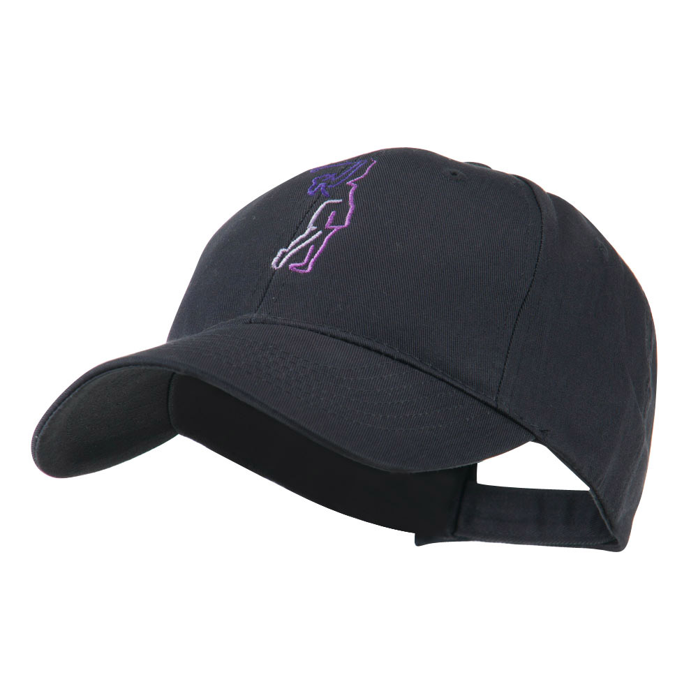 Female Golfer Outline Embroidered Cap - Navy - Hats and Caps Online Shop - Hip Head Gear
