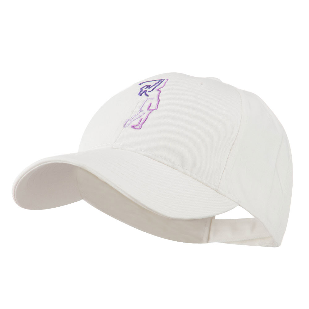 Female Golfer Outline Embroidered Cap - White - Hats and Caps Online Shop - Hip Head Gear