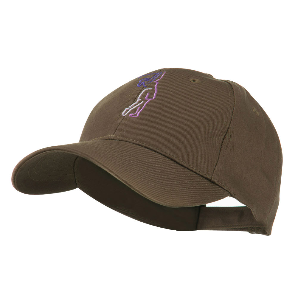 Female Golfer Outline Embroidered Cap - Brown - Hats and Caps Online Shop - Hip Head Gear