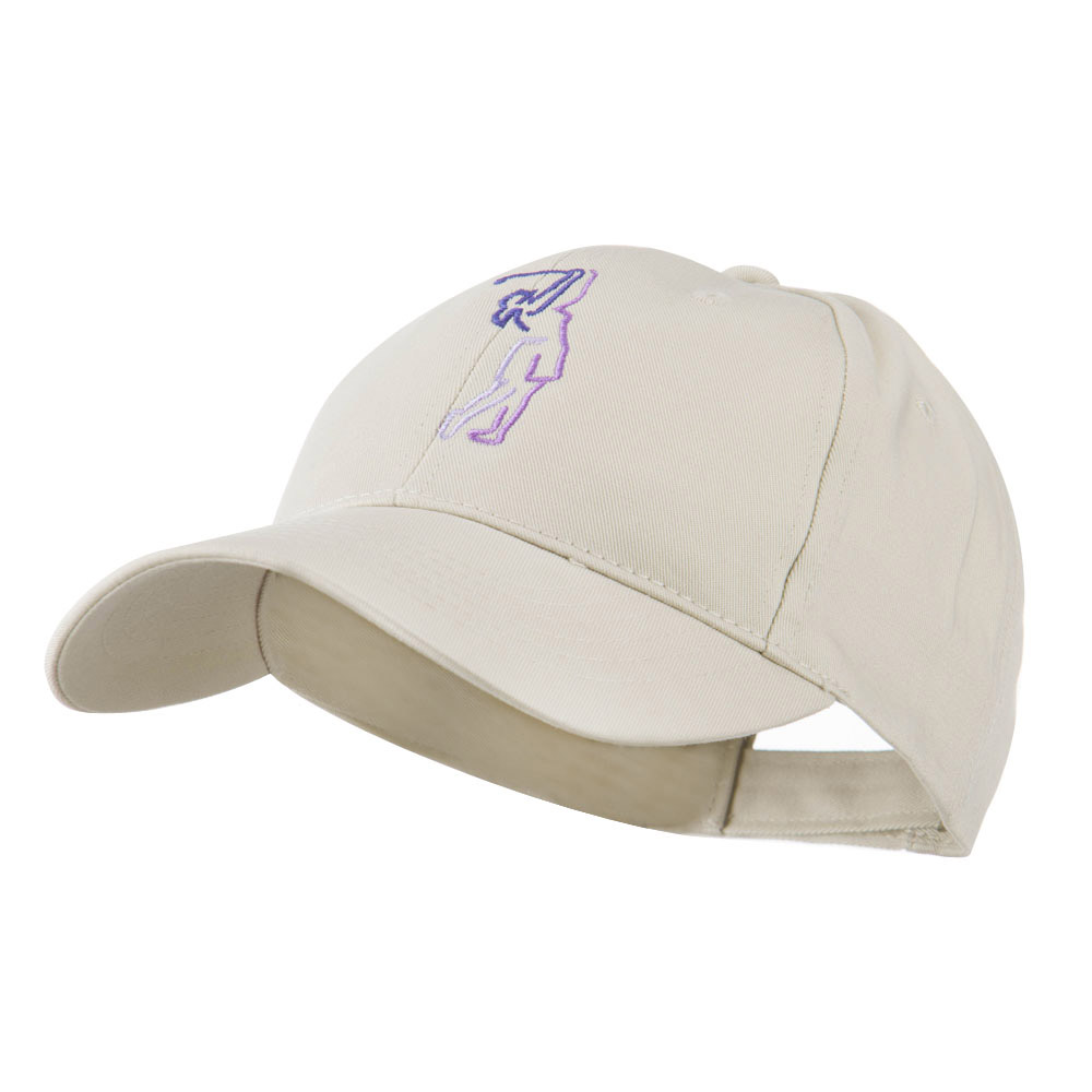 Female Golfer Outline Embroidered Cap - Stone - Hats and Caps Online Shop - Hip Head Gear