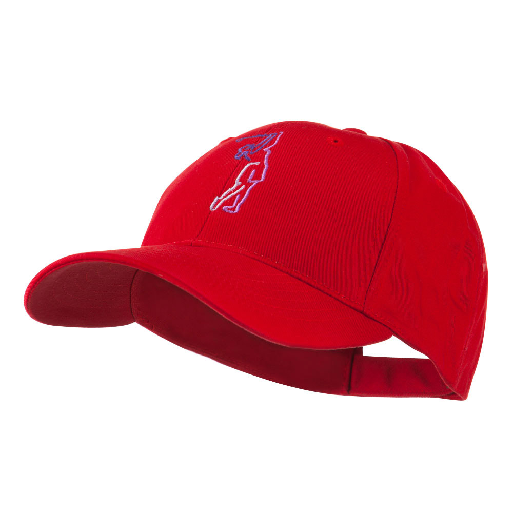 Female Golfer Outline Embroidered Cap - Red - Hats and Caps Online Shop - Hip Head Gear