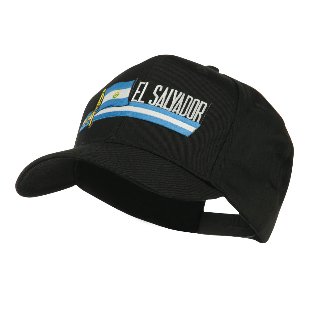 Flag and Name Patched Cap - El Salvador - Hats and Caps Online Shop - Hip Head Gear