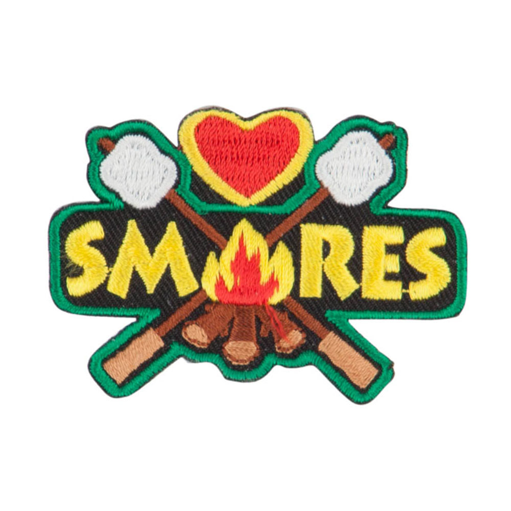 Camping Campfire Outdoor Patches - Green