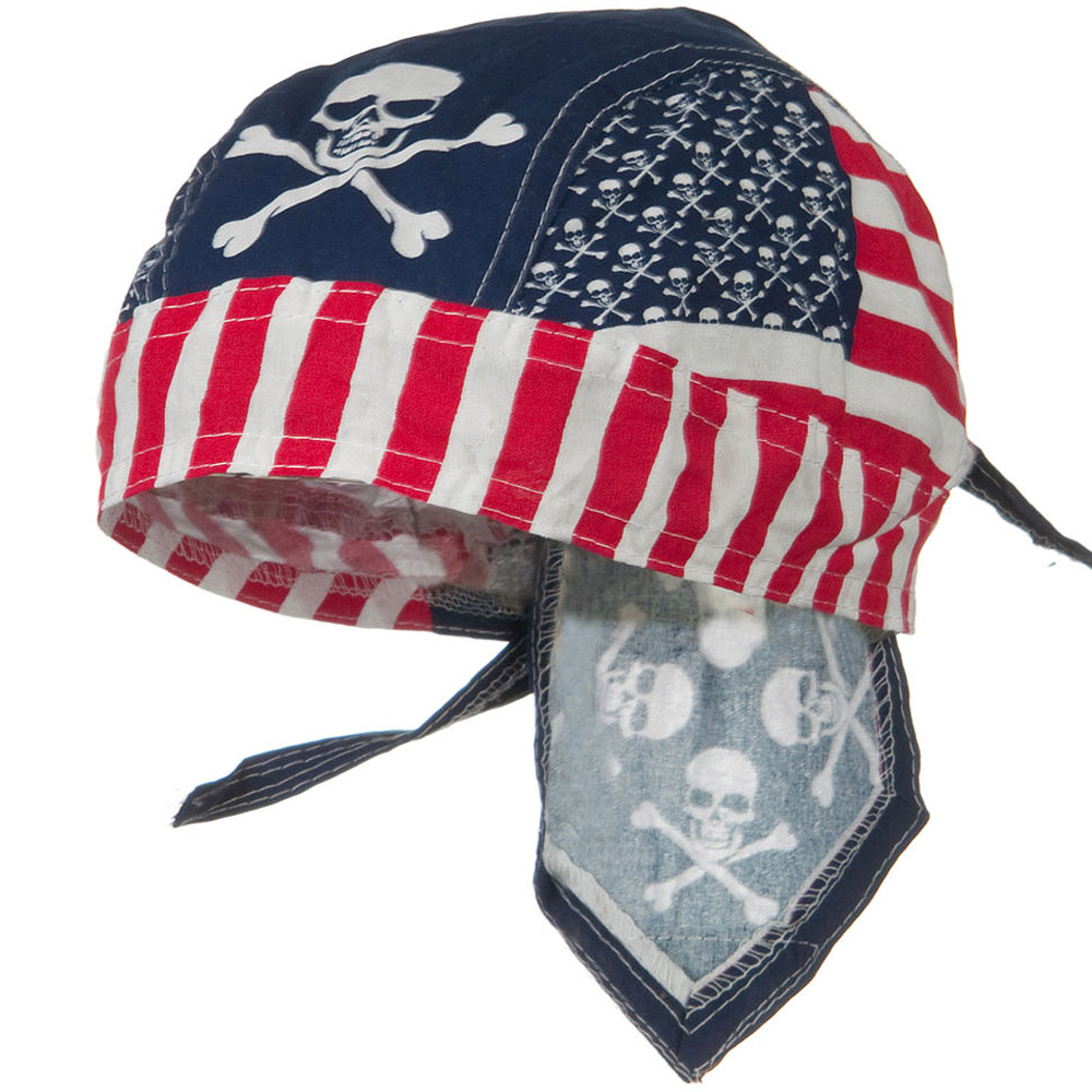 Flag Series Headwraps-Patriotic Skull - Hats and Caps Online Shop - Hip Head Gear