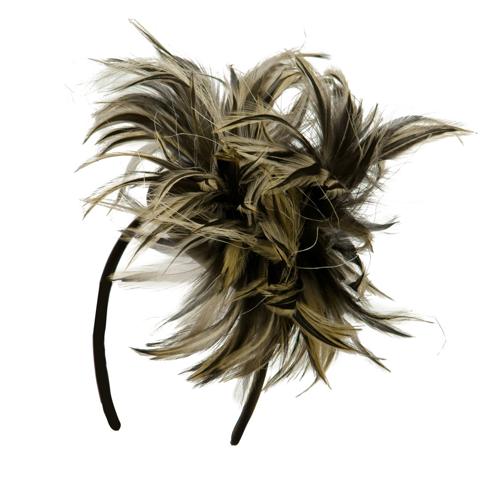 Feather Headband - Brown Tan - Hats and Caps Online Shop - Hip Head Gear