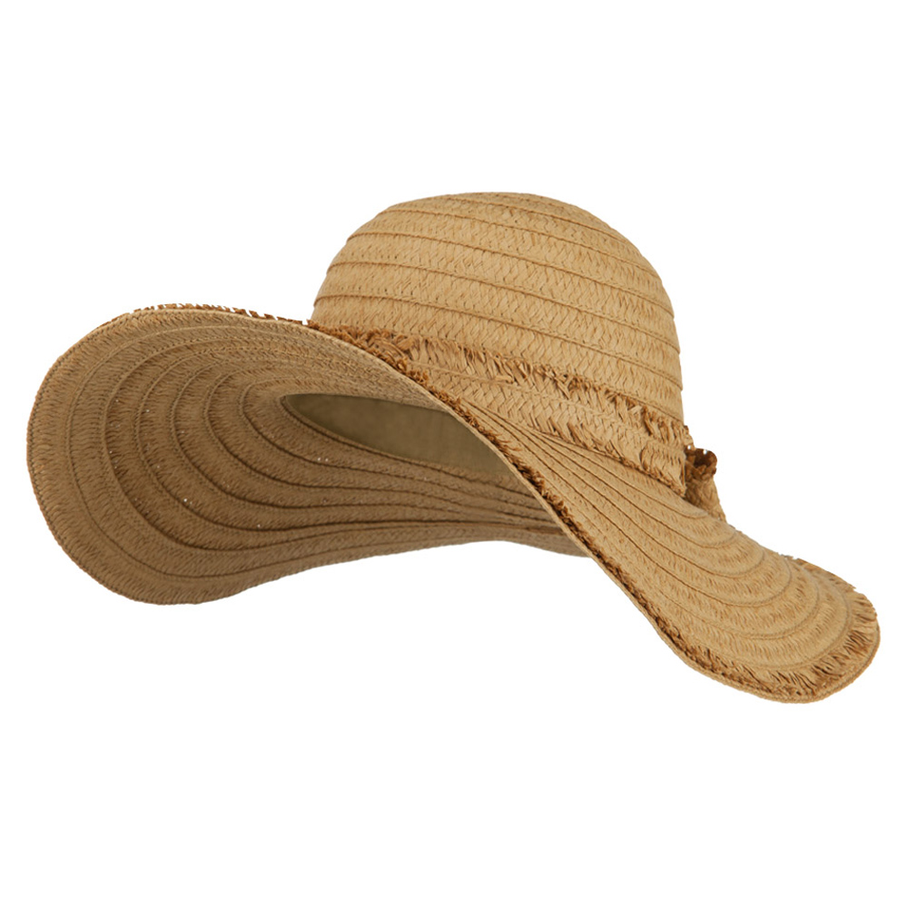 Fringed End Ribbon Straw Fashion Hat - Natural - Hats and Caps Online Shop - Hip Head Gear