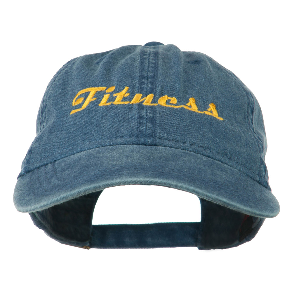 Fitness Wording Embroidered Cap - Navy - Hats and Caps Online Shop - Hip Head Gear