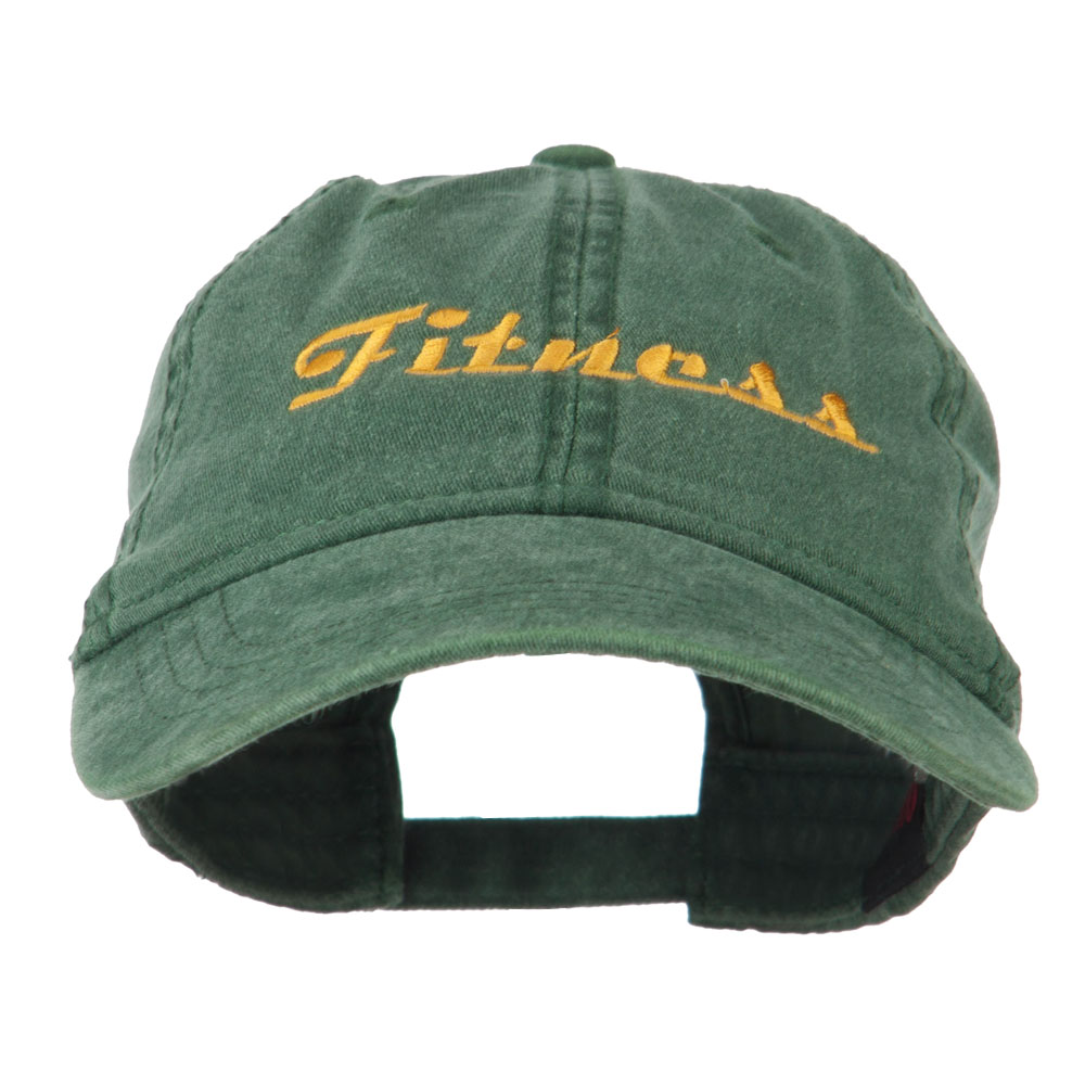 Fitness Wording Embroidered Cap - Dark Green - Hats and Caps Online Shop - Hip Head Gear