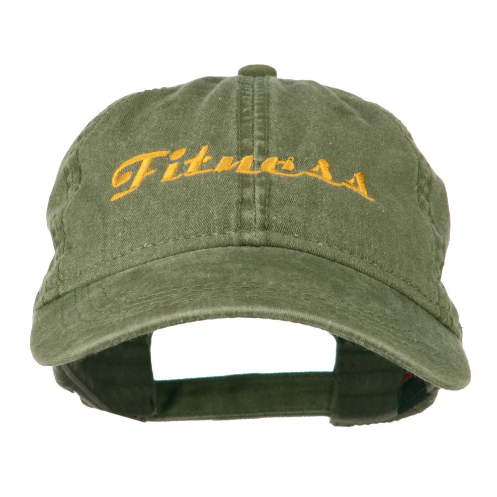 Fitness Wording Embroidered Cap - Olive Green - Hats and Caps Online Shop - Hip Head Gear