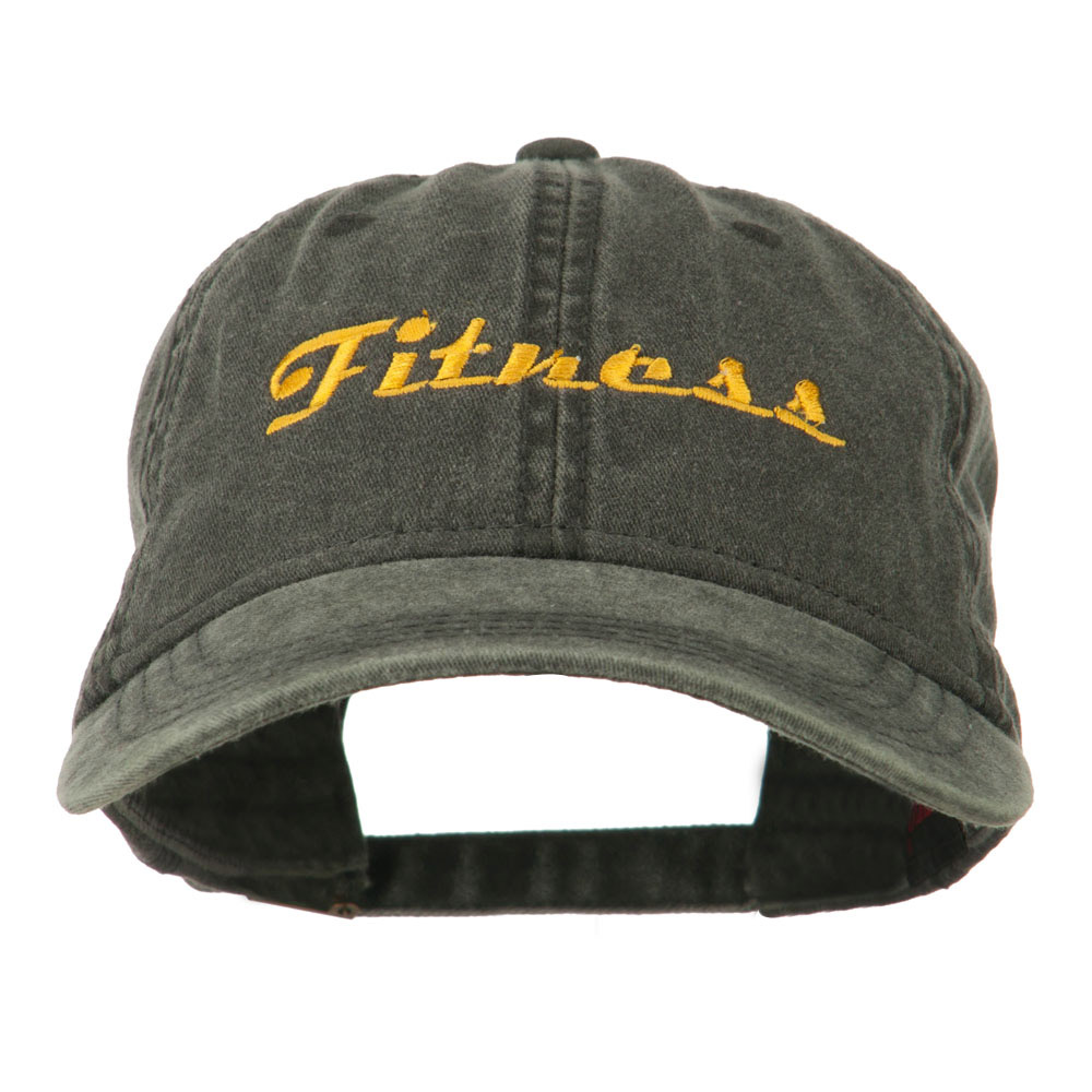 Fitness Wording Embroidered Cap - Black - Hats and Caps Online Shop - Hip Head Gear