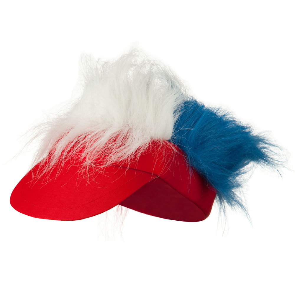 Funny Fur Visor - Red White Blue - Hats and Caps Online Shop - Hip Head Gear