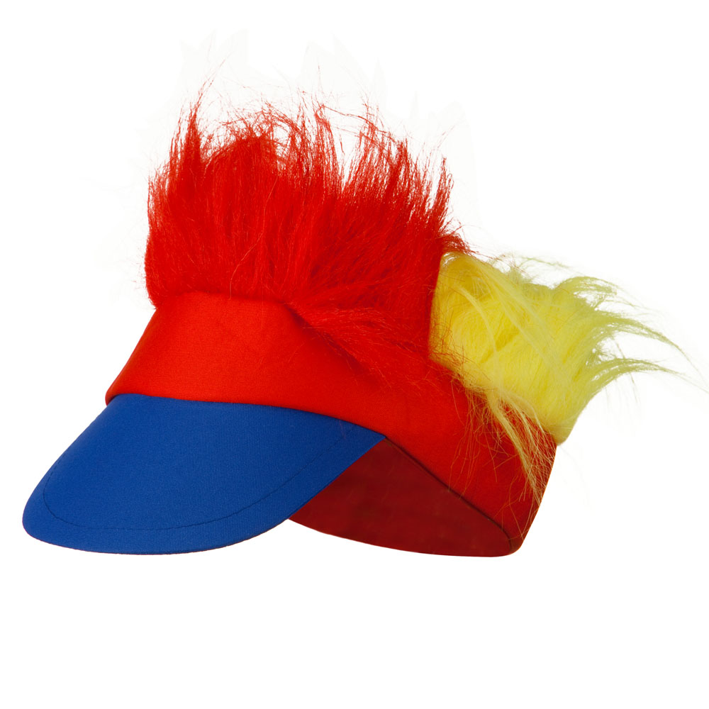 Funny Fur Visor - Blue Red Yellow