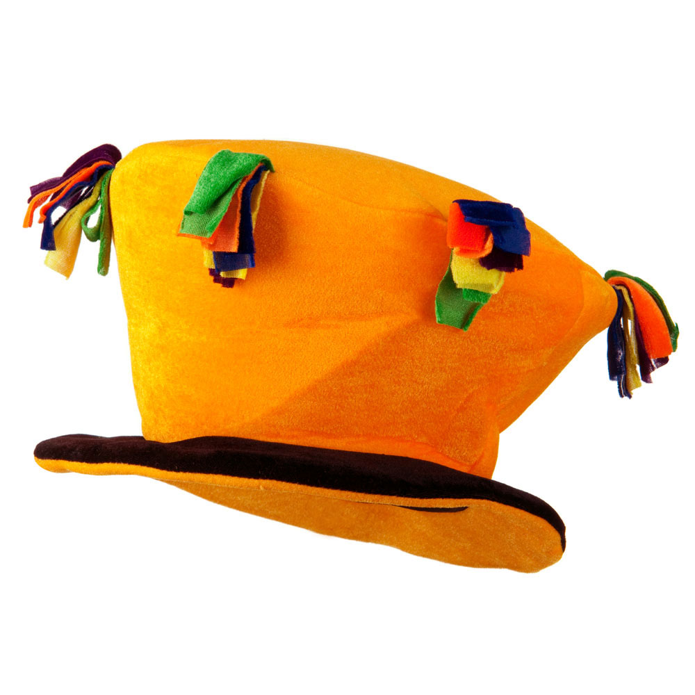 Funny Velvet Top Hat - Yellow - Hats and Caps Online Shop - Hip Head Gear
