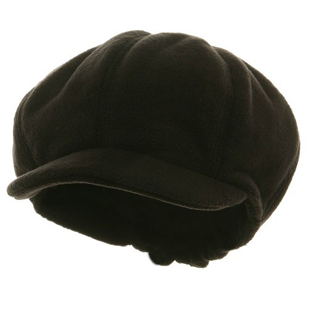 Fleece Winter Newsboy Cap - Black - Hats and Caps Online Shop - Hip Head Gear