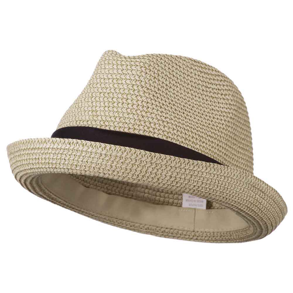 Men's Fedora with Paper Straw Braid - Beige - Hats and Caps Online Shop - Hip Head Gear