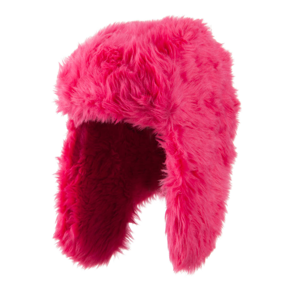 Faux Fur Color Trooper Hat - Fuchsia - Hats and Caps Online Shop - Hip Head Gear