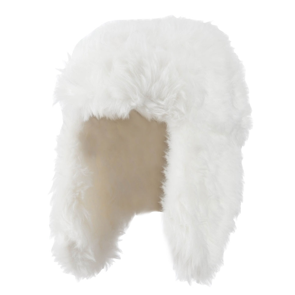 Faux Fur Color Trooper Hat - Ivory - Hats and Caps Online Shop - Hip Head Gear