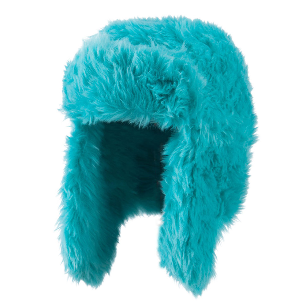 Faux Fur Color Trooper Hat - Green - Hats and Caps Online Shop - Hip Head Gear